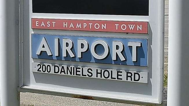 Chemicals were found at the East Hampton Airport.
