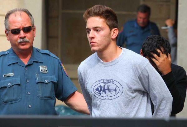 Sam Eshaghoff, 19, of Great Neck, leaves Nassau
