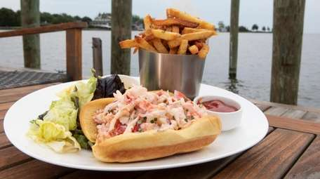 The lobster roll at is a popular brunch