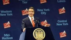 New York Gov. Andrew Cuomo introduces former President