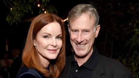 Marcia Cross and Tom Mahoney attend the 2017
