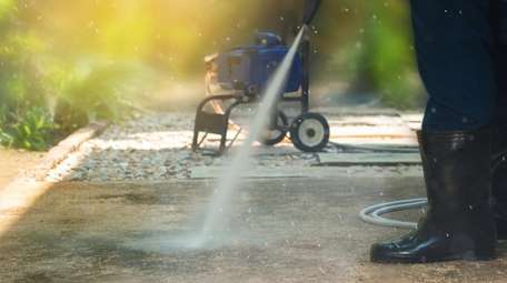 Pressure washing and power washing both require the