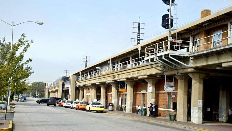 The Freeport Train Station, located in Freeport Plaza,