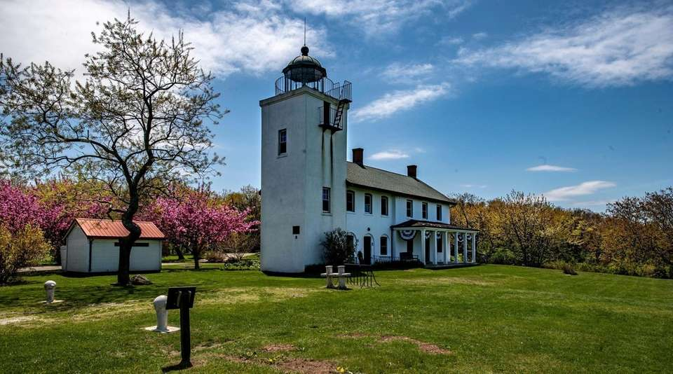 The grounds around the Horton Point Lighthouse in