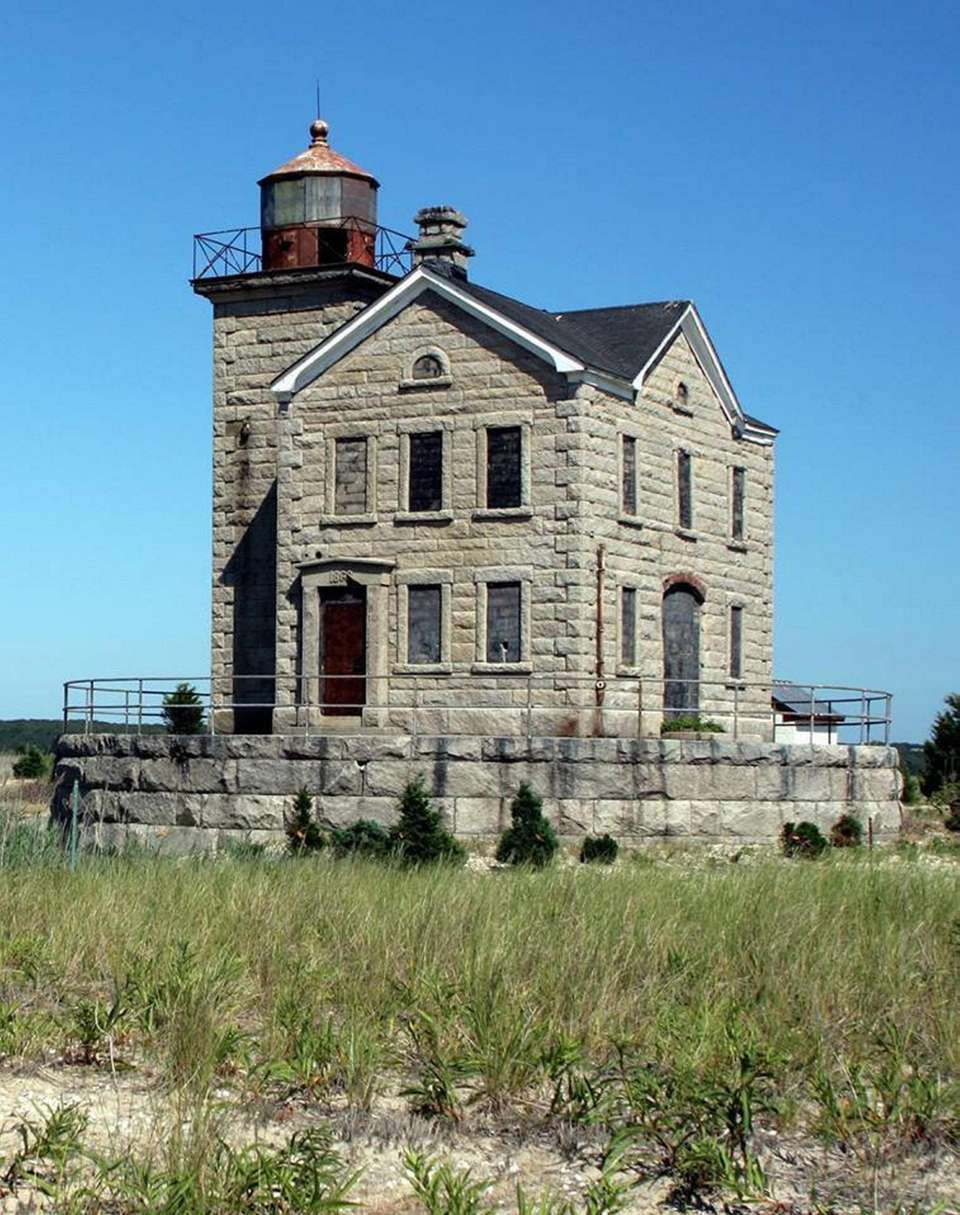 Cedar Island Lighthouse located at the entrance to