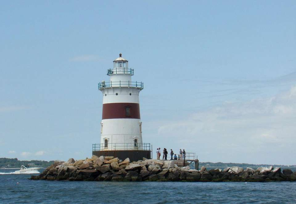 Latimer Reef Lighthouse built in 1884 on Fishers