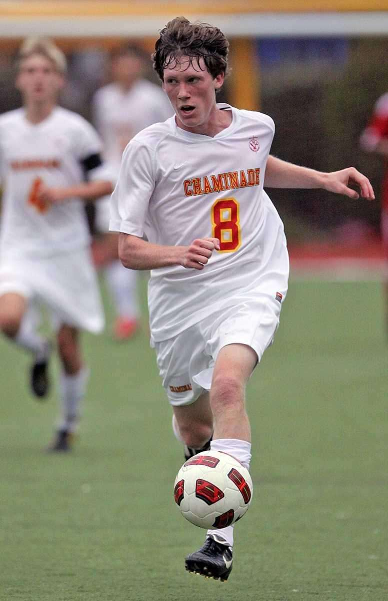 Chaminade's Charles Stiene who scored twice races down