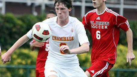 Chaminade's Charles Stiene breaks toward goal during the