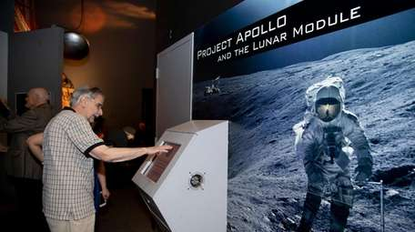 Frank Pullo, electrical manager of Apollo LM, visits