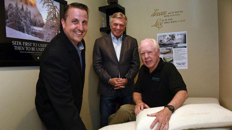 Sleep BioLogics' founders Irwin Paul, center, and Tom