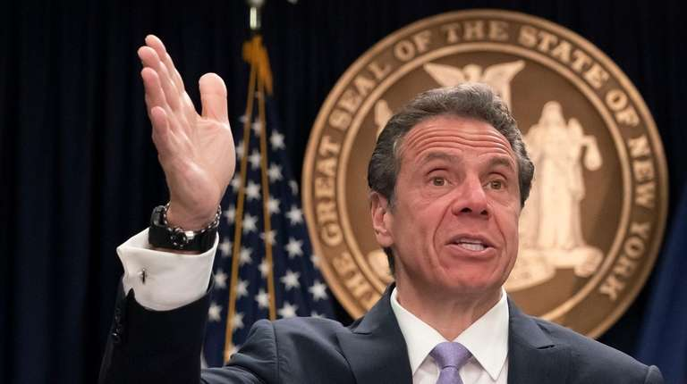 Gov. Andrew M. Cuomo responds to reporters questions
