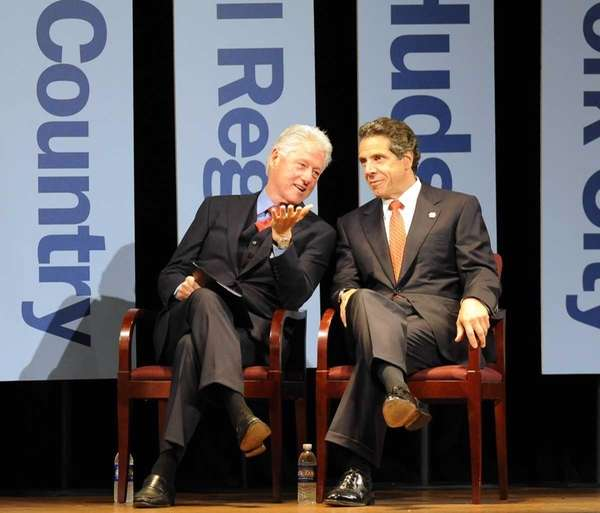 Former President Bill Clinton and New York Gov.