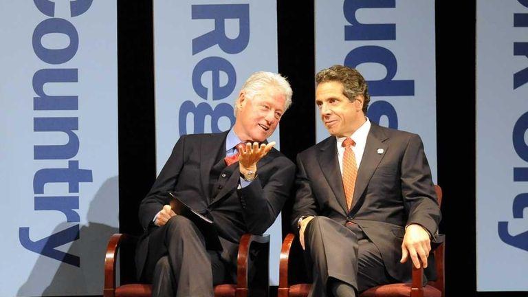 Former President Bill Clinton and New York Gov.