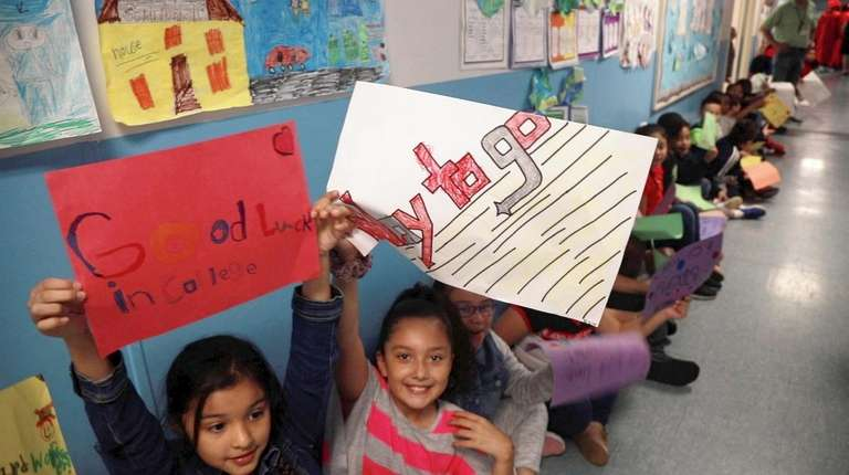 Students at Northwest Elementary School in the Amityville