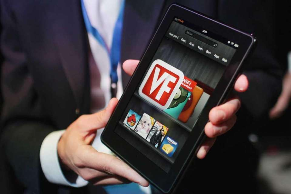 The new Amazon tablet, called the Kindle Fire,