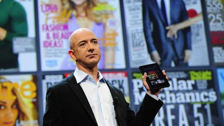 Amazon CEO Jeff Bezos introduces the new Kindle