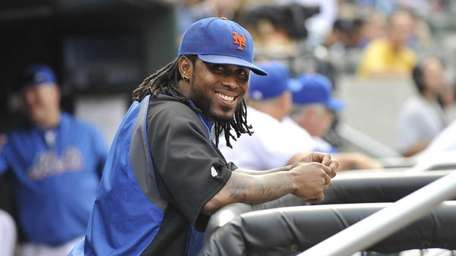 Jose Reyes smiles as the Mets last game