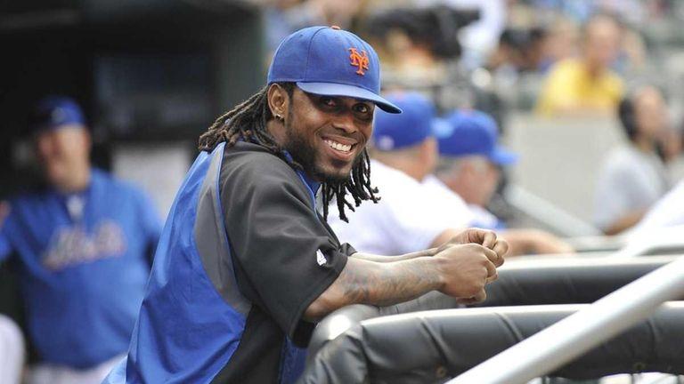 Jose Reyes smiles as the Mets last game