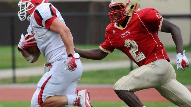 East Islip High School running back #2 Tyler