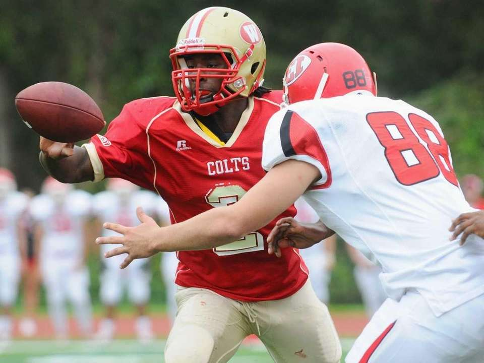 Half Hollow Hills West High School quarterback #2