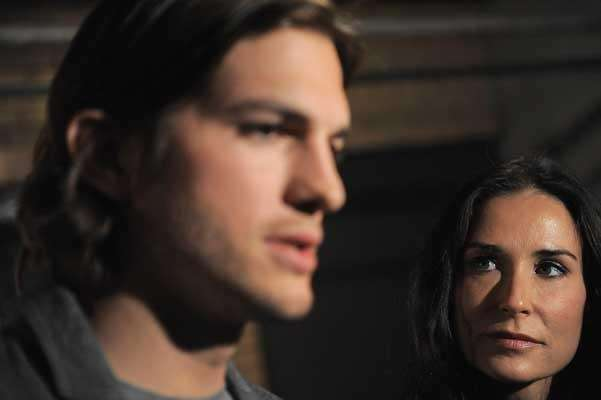 Ashton Kutcher, left, and Demi Moore. (Getty Images)