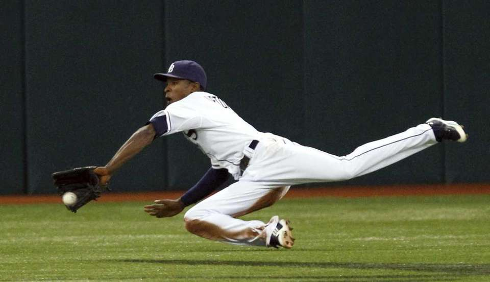 Tampa Bay Rays center fielder B.J. Upton makes