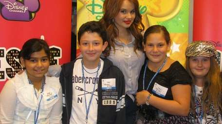 Actress Debby Ryan, star of the TV show