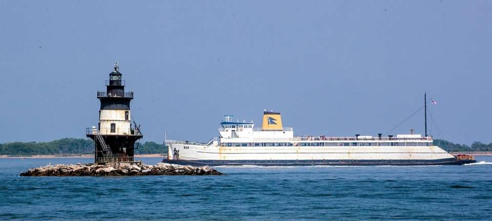 The Cross Sound Ferry passes by the Orient