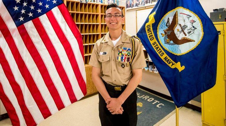 William Floyd High School senior Xander Shirley, who