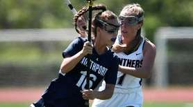 Northport's Natalie Miller, left, is defended by Pittsford's