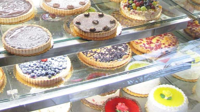 A selection of tarts at Rolling Pin Bakery
