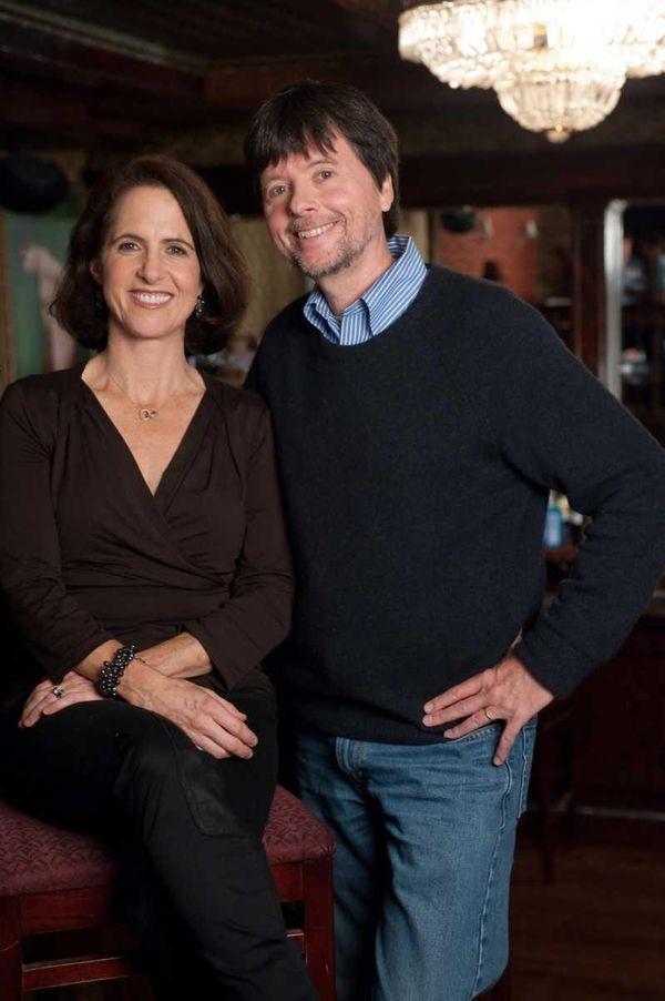Filmmakers Ken Burns, right, and Lynn Novick, whose