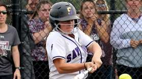 Sayville's Angie Capuano gets the game winning base