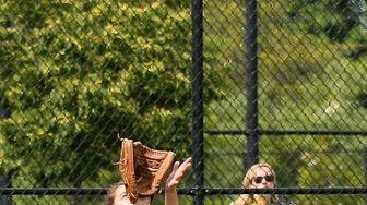 Sayville left fielder Mallory Kinahan makes the catch