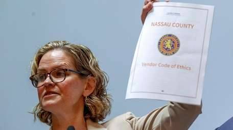 Nassau County Executive Laura Curran introduces a Vendor