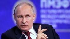 Russian President Vladimir Putin at the St. Petersburg
