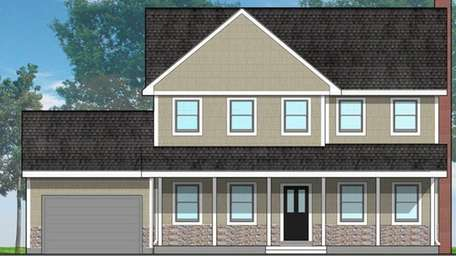 Renderings of the single-family houses that will be