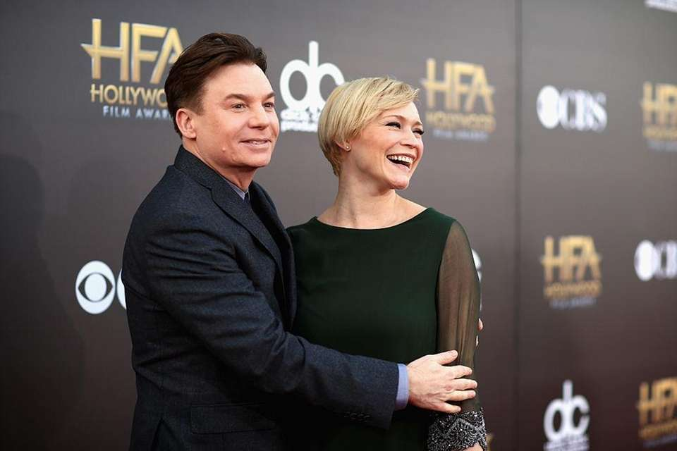 Parents: Mike Myers and Kelly Tisdale Children: Spike,