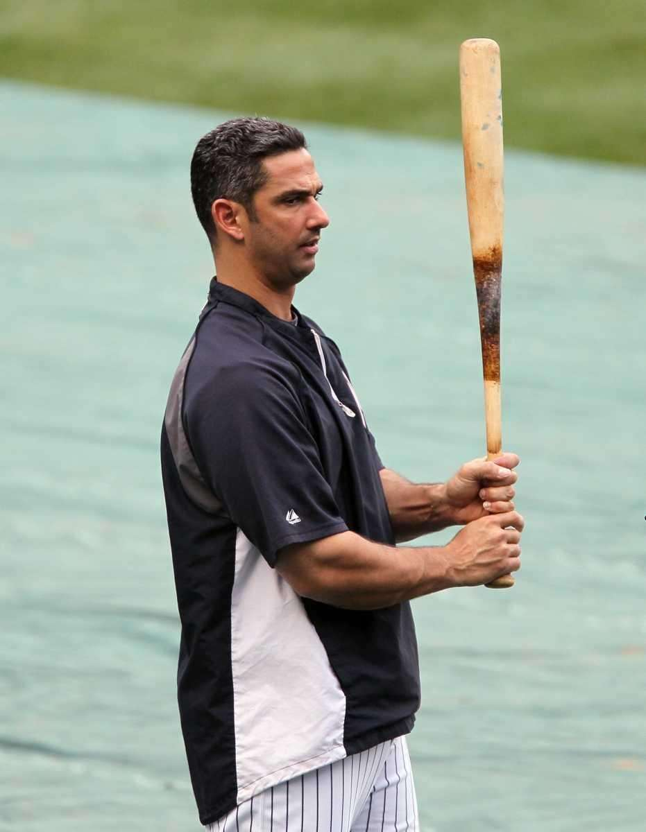 Jorge Posada #20 of the New York Yankees