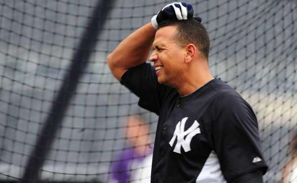 New York Yankees Alex Rodriguez during a workout
