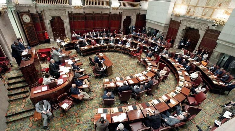 State senators consider legislation on May 8 at