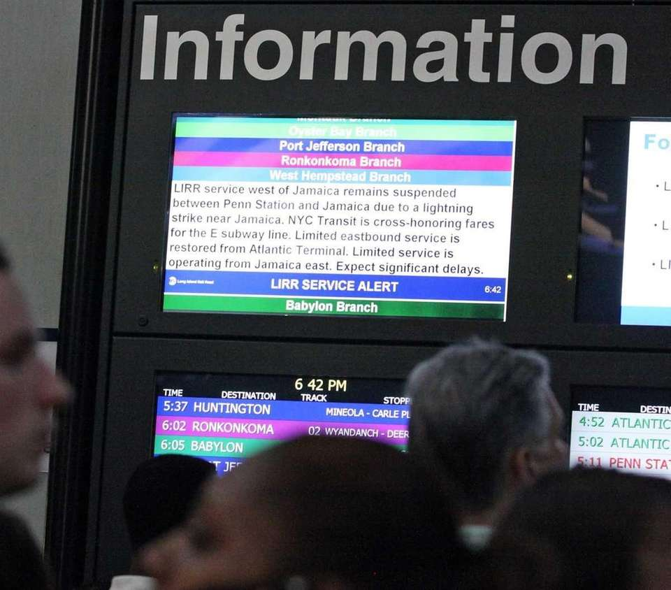 LIRR passengers read the screens and learn that