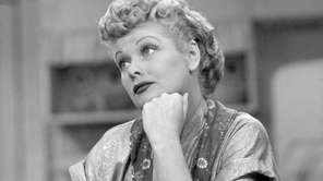 Lucille Ball as lovable redhead Lucy Ricardo.
