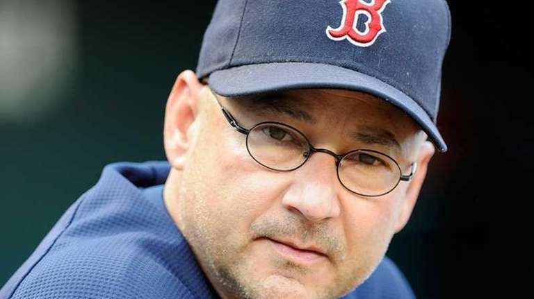 Terry Francona of the Boston Red Sox watches