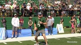 Jets quarterback Sam Darnold hosted a youth football