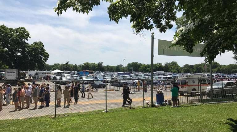 Belmont Park's West Paddock Gate parking lot, which