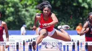 Valley Stream South's Chibugo Obichere competes in the
