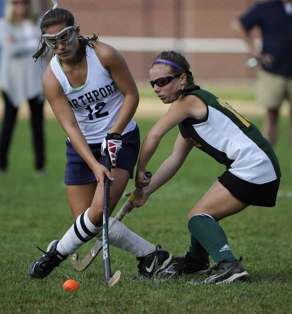 Northport midfielder Michaela Aymong controls the ball ahead