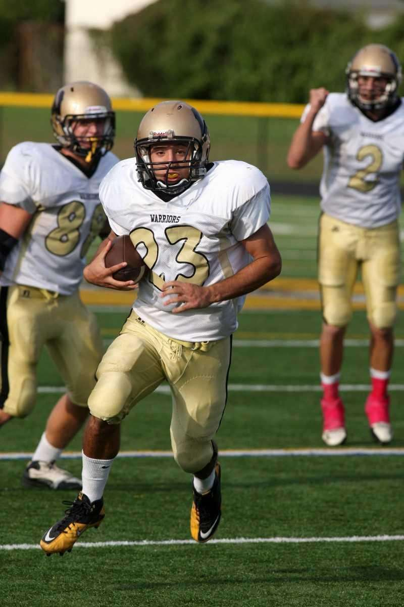 Wantagh H.S. player Matt Balzano, no. 23, gains