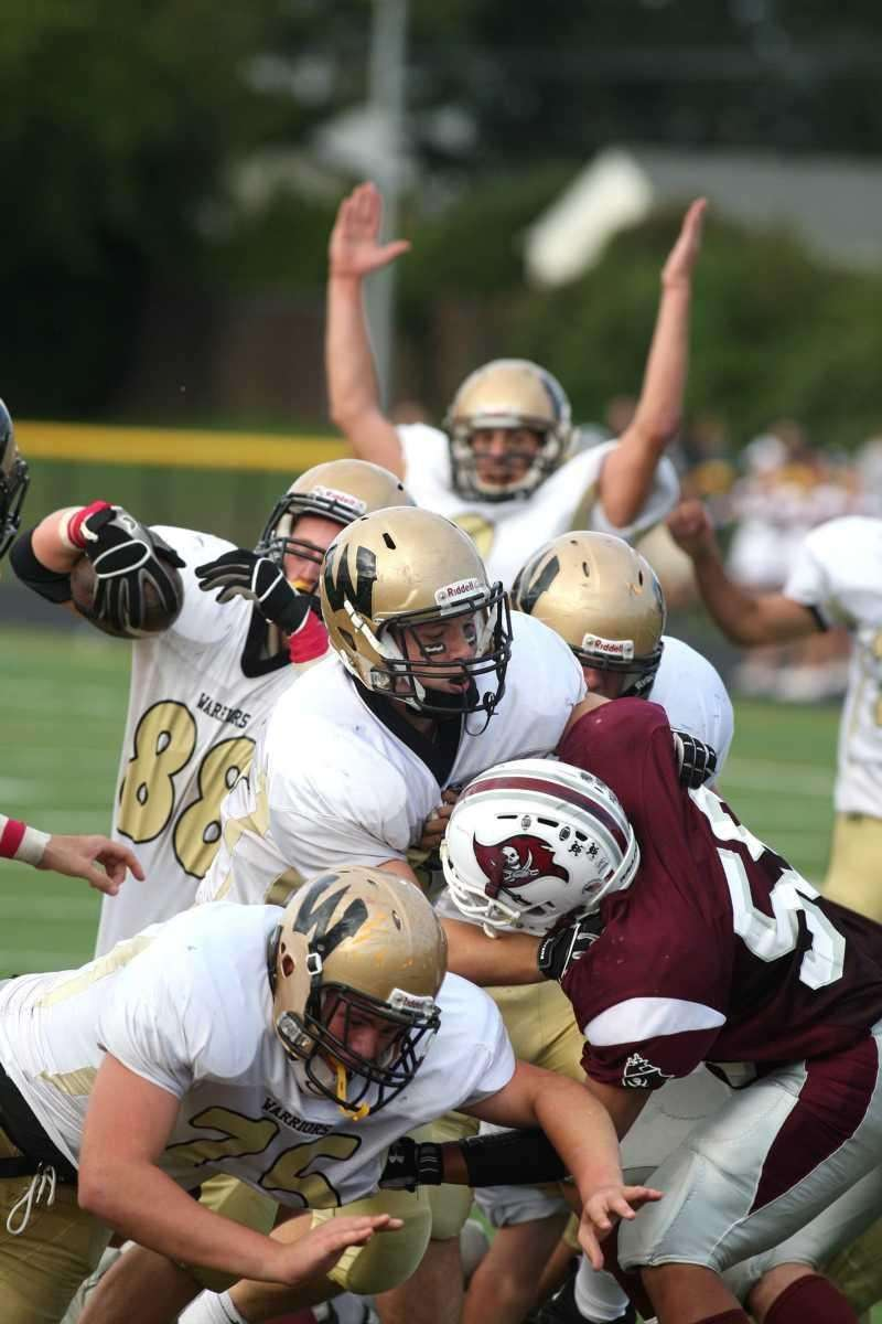 Wantagh H.S. player Shaun Charkowick, no. 88, scores